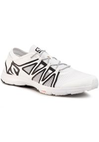 Białe buty treningowe salomon z cholewką