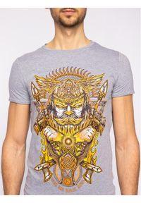 Rage Age T-Shirt Swaróg Szary Regular Fit. Kolor: szary