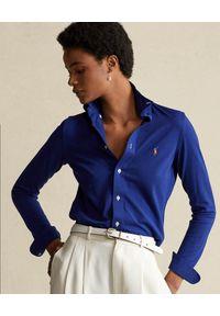Niebieska koszula Ralph Lauren długa, w kolorowe wzory, klasyczna