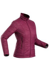 FORCLAZ - Kurtka trekkingowa - Trek 100 -5°C - damska. Kolor: fioletowy. Materiał: poliester, poliamid, materiał