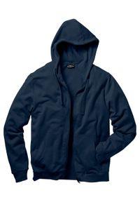 Bluza rozpinana z kapturem bonprix ciemnoniebieski. Typ kołnierza: kaptur. Kolor: niebieski