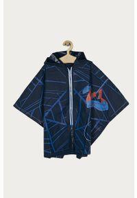 Niebieski płaszcz OVS z kapturem, z motywem z bajki