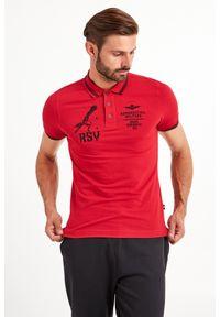 Koszulka polo Aeronautica Militare polo, sportowa, w jednolite wzory