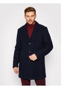 Pierre Cardin Płaszcz wełniany 71780/000/4730 Granatowy Regular Fit. Kolor: niebieski. Materiał: wełna