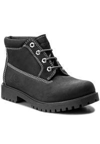 Czarne buty trekkingowe Canguro z cholewką