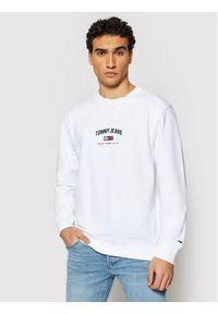 Tommy Jeans Bluza Tjm Timeless Crew 1 DM0DM10193 Biały Regular Fit. Kolor: biały