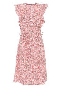 Różowa sukienka bonprix w kwiaty