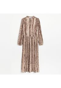 Reserved - Szyfonowa sukienka midi - Wielobarwny. Materiał: szyfon. Długość: midi