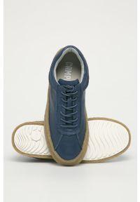 Niebieskie sneakersy Camper na sznurówki, z cholewką