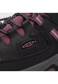 keen - Trekkingi KEEN - Targhee Mid Wp 1020131 Raven/Tulipwood. Okazja: na spacer. Kolor: czarny. Materiał: skóra, materiał. Szerokość cholewki: normalna. Sezon: zima. Styl: młodzieżowy