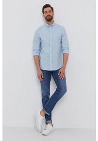 GANT - Gant - Koszula bawełniana. Okazja: na co dzień. Typ kołnierza: button down. Kolor: niebieski. Materiał: bawełna. Długość rękawa: długi rękaw. Długość: długie. Wzór: gładki. Styl: casual