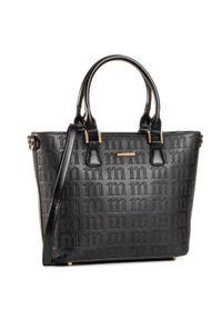 Czarna torebka klasyczna Monnari na ramię, casualowa, skórzana