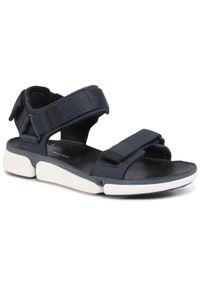 Niebieskie sandały Clarks na lato, klasyczne