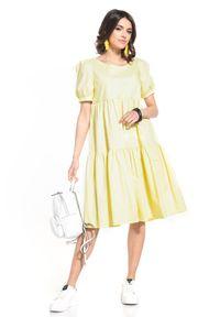 Żółta sukienka Tessita midi