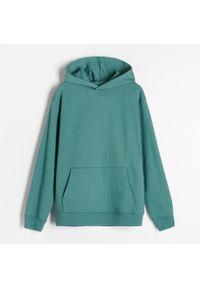Reserved - PREMIUM Bluza z bawełny organicznej - Turkusowy. Kolor: turkusowy. Materiał: bawełna