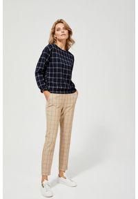 Spodnie MOODO w kratkę, długie