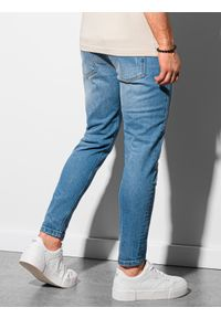 Ombre Clothing - Spodnie męskie jeansowe P938 - niebieskie - XXL. Kolor: niebieski. Materiał: jeans. Styl: klasyczny
