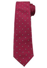Ciemny Czerwony Elegancki Krawat -Angelo di Monti- 6 cm, Męski, Wzór Geometryczny. Kolor: czerwony. Wzór: geometria. Styl: elegancki