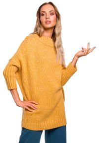 Pomarańczowy sweter oversize MOE melanż