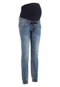 Niebieskie jeansy bonprix moda ciążowa, długie, sportowe