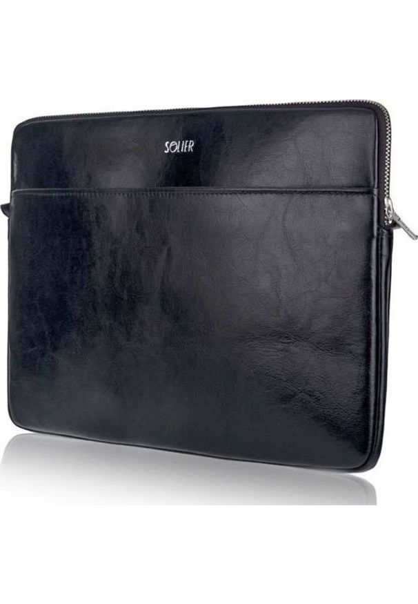 Czarne etui na laptopa Solier