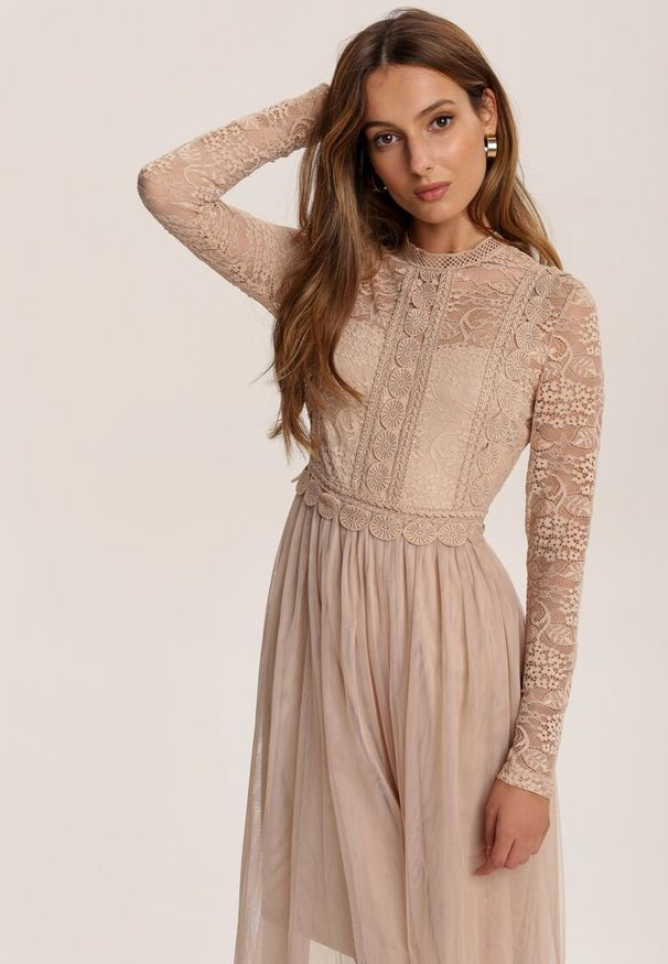 Beżowa sukienka Renee