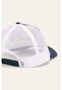 Niebieska czapka z daszkiem columbia z nadrukiem