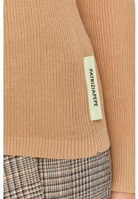 Sweter Patrizia Pepe casualowy, z długim rękawem, długi, z golfem