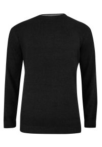 Czarny sweter Adriano Guinari do pracy, casualowy