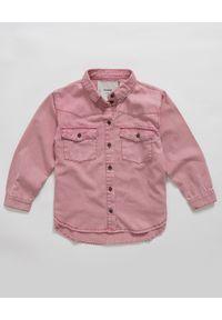 ONETEASPOON KIDS - Koszula z denimu różowa 5-14 lat. Kolor: wielokolorowy, różowy, fioletowy. Materiał: denim. Długość rękawa: długi rękaw. Długość: długie. Sezon: lato. Styl: elegancki