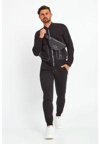 Karl Lagerfeld - BLUZA KARL LAGERFELD. Typ kołnierza: kołnierzyk stójkowy. Materiał: guma. Wzór: napisy, aplikacja
