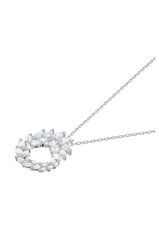 Srebrny naszyjnik Swarovski srebrny, z kryształem