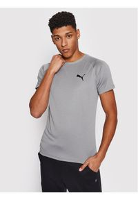 Puma Koszulka techniczna Rtg Tee 585827 Szary Slim Fit. Kolor: szary