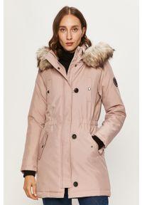 Różowa kurtka only casualowa, na co dzień, z kapturem