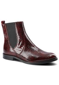 Dwunasty Shoes - Botki DWUNASTY SHOES 7420 Bordo Kroko 2