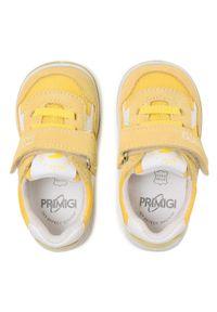 Primigi - Sneakersy PRIMIGI - 7368200 Gial. Okazja: na spacer. Zapięcie: rzepy. Kolor: żółty. Materiał: skóra, materiał, zamsz. Szerokość cholewki: normalna