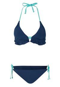 Bikini z trójkątnymi miseczkami (2 części) bonprix niebieski. Kolor: niebieski