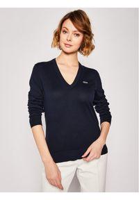 Niebieski sweter klasyczny Lacoste