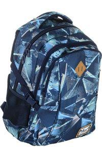 ALWAYS WILD - Plecak szkolny niebieski Always Wild HS-17 HASH. Kolor: niebieski. Materiał: materiał. Wzór: nadruk, aplikacja. Styl: sportowy