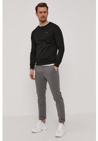 G-Star RAW - G-Star Raw - Bluza. Kolor: czarny. Materiał: dzianina, materiał. Wzór: gładki