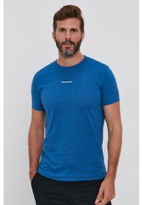 Calvin Klein Jeans - T-shirt. Okazja: na co dzień. Kolor: niebieski. Materiał: bawełna, dzianina. Wzór: gładki. Styl: casual