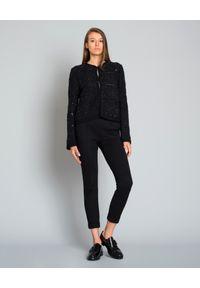 LES COPAINS - Spodnie w kant. Kolor: czarny. Styl: elegancki
