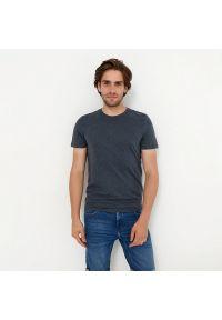 House - Koszulka z bawełny organicznej basic - Granatowy. Kolor: niebieski. Materiał: bawełna