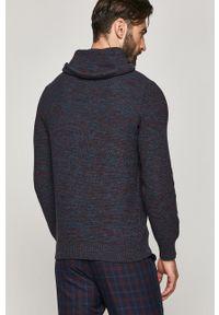 Turkusowy sweter medicine długi, na co dzień, z długim rękawem