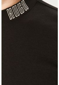 Czarna koszulka z długim rękawem Hugo casualowa, z okrągłym kołnierzem, na co dzień