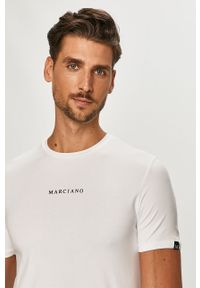 Biały t-shirt Marciano Guess gładki
