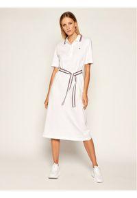 Biała sukienka TOMMY HILFIGER casualowa, prosta, na co dzień