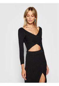 Kontatto Sweter 3M7257 Czarny Slim Fit. Kolor: czarny