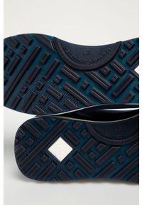 Niebieskie sneakersy GANT na średnim obcasie, na sznurówki, z okrągłym noskiem, z cholewką