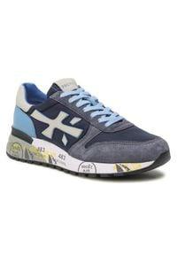 Premiata Sneakersy Mick 1280E Granatowy. Kolor: niebieski